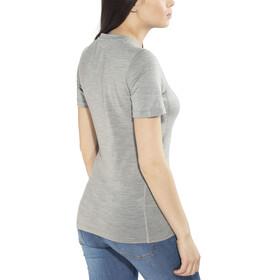 Odlo Natural 100% Merino Warm Crew Neck SS Shirt Women grey melange-black